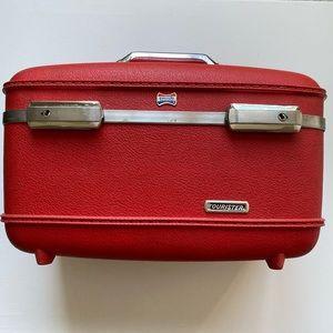 American Tourister Red Train Case